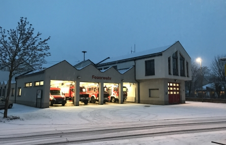 Gerätehaus im Winter