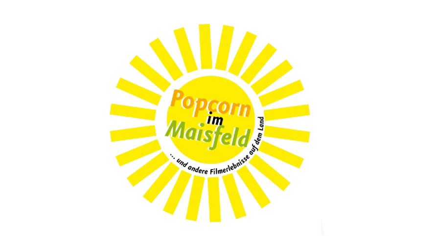 Logo Popcorn im Maisfeld