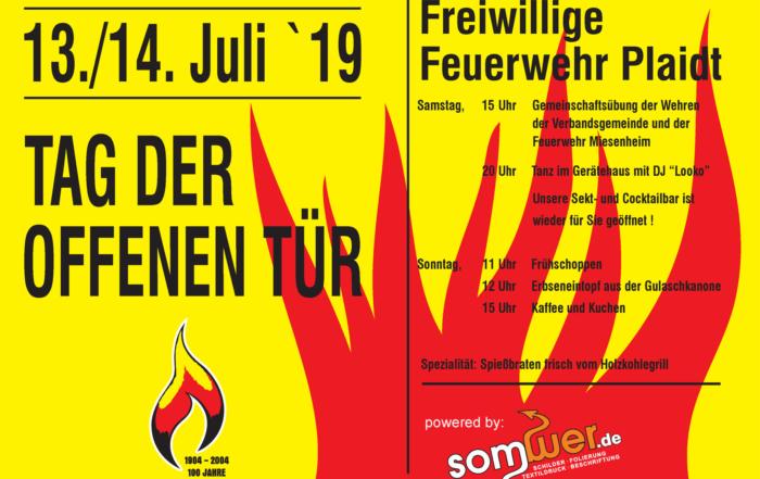Plakat Feuerwehrfest 2019